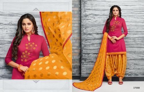 88c3824fb1 Kapil Trendz Aflatune Vol 4 Plain Cotton Fabric Unstitched Salwar Suits