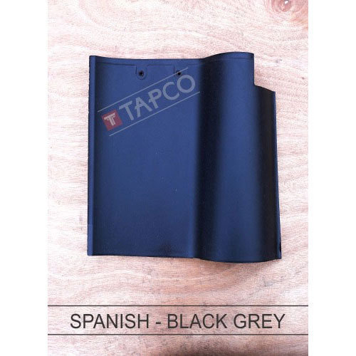 Tapco Ceramic Spanish Black Grey Roofing Tile