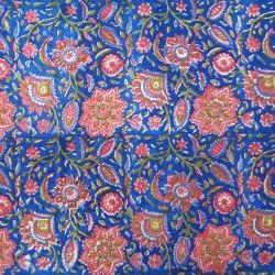 44-45 Inch Multicolor Garments Block Printed Fabric, GSM: 130