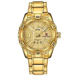 NAVIFORCE Royal Day And Date Chronograph Gold Dial Men's Watch NF9117S-GG