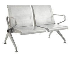 Iron Silver Color 2 Seater Airport Chair for Hospital