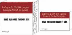 Co-Enzyme Q10 EPA DHA Lycopene Selenium and Zinc Soft Gel Capsules