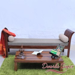Dwarka Impex Sheesham Wooden Deewan, Size: 60l X 21w X 30h