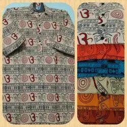 Shirt length Printed Om Print Kurtas