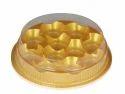 Round Golden Laddu Box