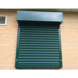 Full Height Manual Iron Rolling Shutter