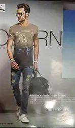 Men's Round Neck Designer Half Sleeve T-Shirt