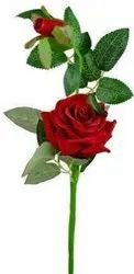 Real Look Artificial Red Rose Flower Stick For Valentines Gift And Decor,Height 38 Cm