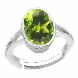 Peridot Stone Silver Ring Gemstone