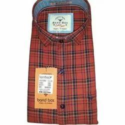 Collar Neck Band Box Mens Stylish Check Shirt, Size: 38 - 42, Packaging Type: Box