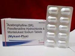 Acebrophyline Fexofenadine Hydrochioride7 monteukast Sodium, For Hospital, Packaging Type: Strips