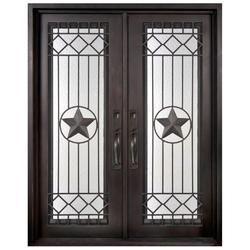Rectangular Coated Decorative Iron Main Door for Residential And Commercial