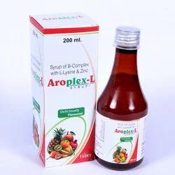 B- Complex L- Lysine Zinc Monocorton Vitamin B Complex Syrup