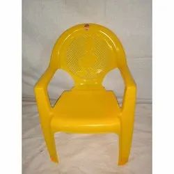 Yellow With Arms Chair Nilkamal Plastic Chair, for Home