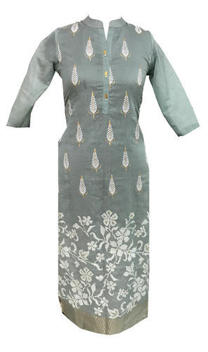 Lavanya Chanderi Designer Printed Party Wear Kurti