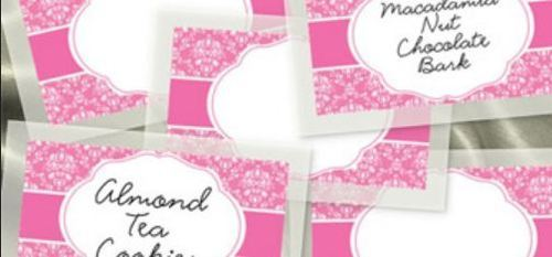 Wedding Card Name Stickers