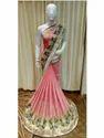 Party Wear Resham Embroidery Chiffon Saree