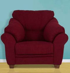 Zurich Maroon Single Seater Sofa