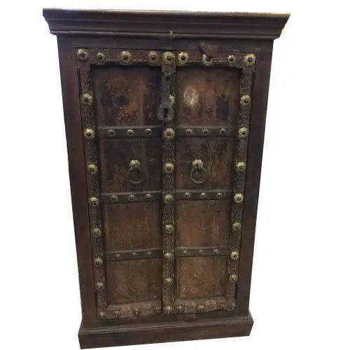 Wooden Finished Antique Storage Cabinet