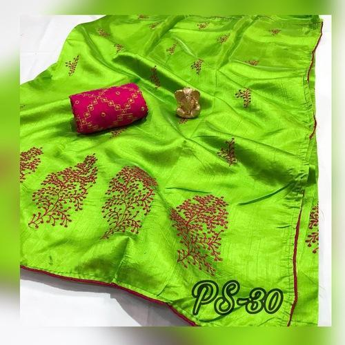 ae9d15387becc Embroidery Designer Sana Silk Bridal Wear Saree