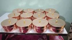 Wandcraft Exports Copper Plated Iron Metal Dry Fruit Candle Jar Gift Box