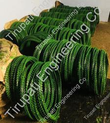 Green Coated Concertina Coils