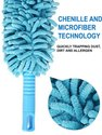 Cleaning Brush Feather Microfiber Duster Magic Dust Cleaner - Fan Cleaning Brush