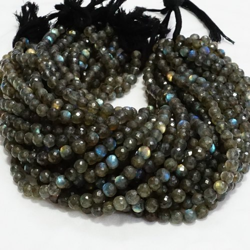 Labradorite Round Faceted Beads