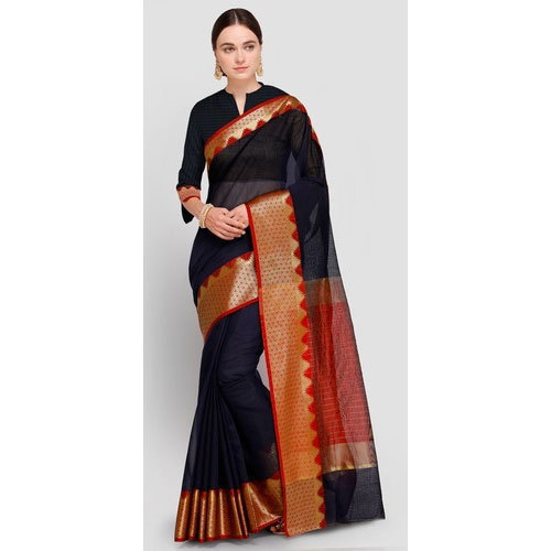 Party Wear Art Silk Printed Saree, Length: 6.3 m