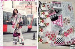3/4 Sleeve Mina Hasan Salwar Suit Fabric
