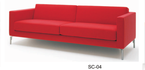 Red 2 Seater Modern Office Sofa Rs