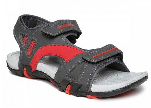7f5de122c7ac Men Grey-Red Sandals FB9102GP-Grey-Red