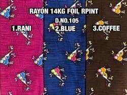 Rayon Foil Print