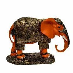 No 2 Orange Elephant Statue