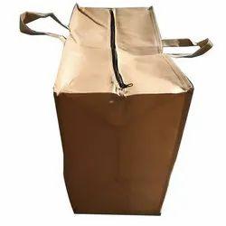 Glossy Plain Non Woven Zipper Loop Handle Bag, For Shopping