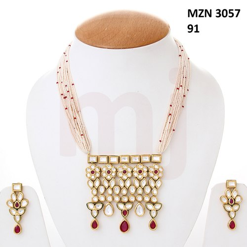 Miracle Jewels Party Wear MZN-3057-91 Necklace Set
