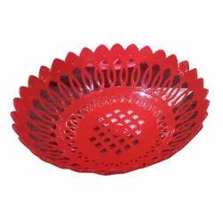 Red Plastic Fruit Basket