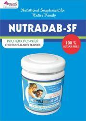 Sugar Free Protein Each 100 gm contains Whey Protein Powder Maltodextrin