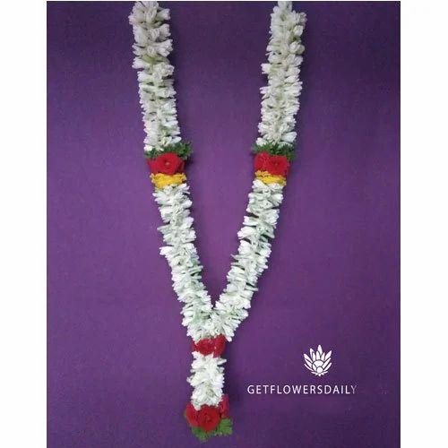 Multicolor Sampangi Flower Garland