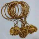 Golden Fancy Party Wear Ms Bangle
