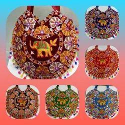 Multicolor Cotton fabric Handicraft Embroidered Ladies Purse