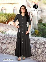 VF Coin Master Vol-3 Series 007A-007H Stylish Party Wear Rayon Kurti