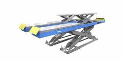 Blue Car Lift Alignment Scissor Lifts, Operating Height: 0-10 feet, Capacity: 3-4 ton