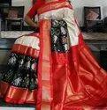 Double Ikkat Patola Silk Saree With 6.3 M Blouse Piece