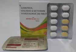 Glimipride 2mg,Metformin 500mg (SR)Voglibose 0.2mg