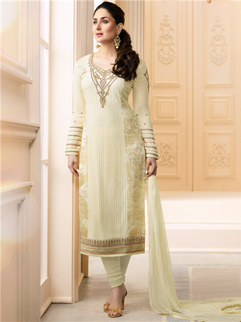 d660c8df43 Cream Color 5913 Kaseesh Kareena Suit, Vinay Fashion LLP | ID ...