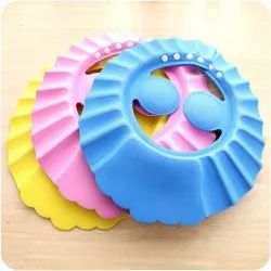 Hemiza Adjustable Baby Bath Shower Cap With Soft Material For Protecting Eyes And Ears