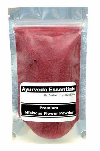Ayurveda Essentials Hibiscus Flower Powder Packaging Type Pouch