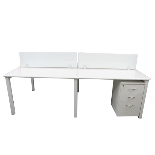 Metal Rectangular Wooden Workstation Table, Warranty: 3 Year