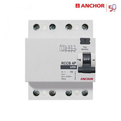Current Operating Device Anchor RCCB MCB, 50 Hz, 415 V